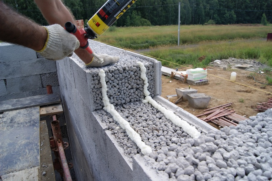 Фундамент из керамзита