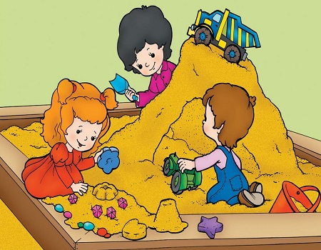Песок для песочниц для детей