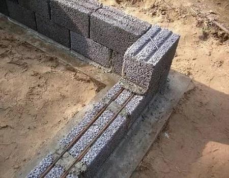 Керамзитные блоки - укладка