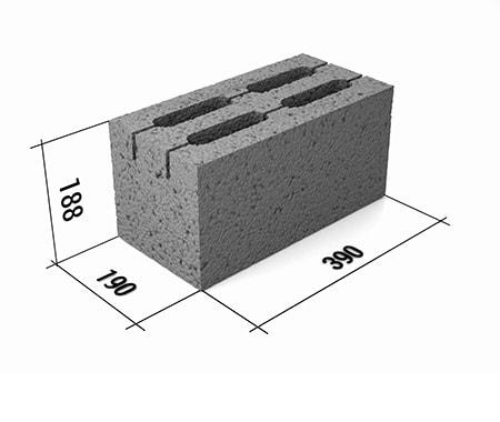 керамзитобетон размеры блоков